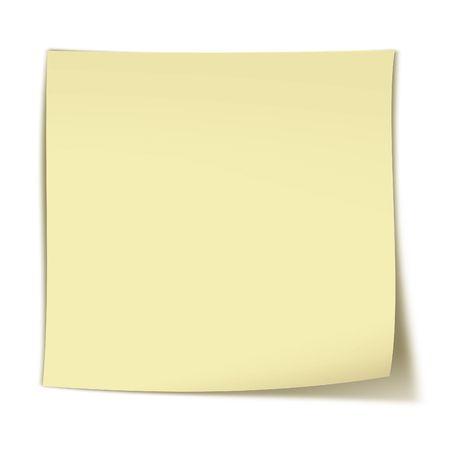 Blank yellow stinker on white