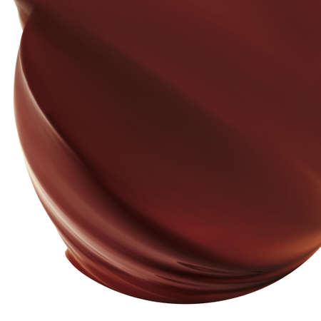 tasty chocolate icing isolated on white
