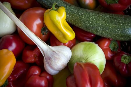 Variety of colorful, fresh vegetables
