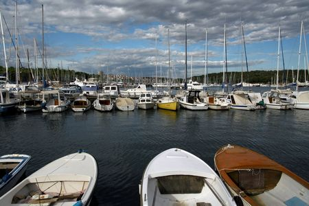 Yacht port in Pula, Croatia Stock Photo