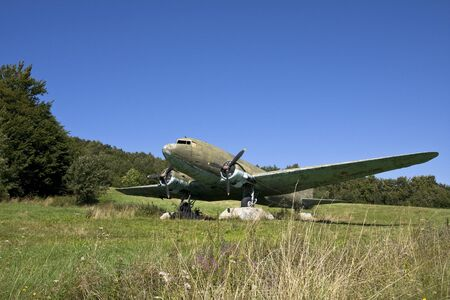 Old, russian plane from the Second World War period