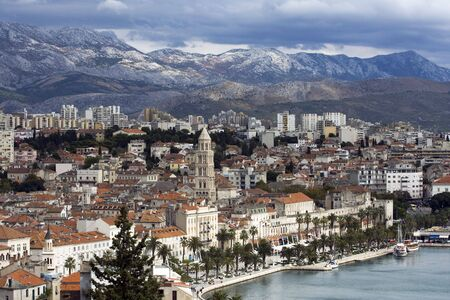Panorama of Split seeing from the hill