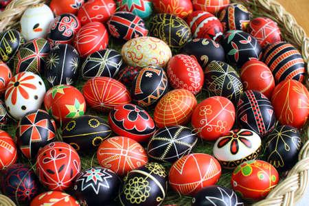 Huevos de Pascua, pintado a mano