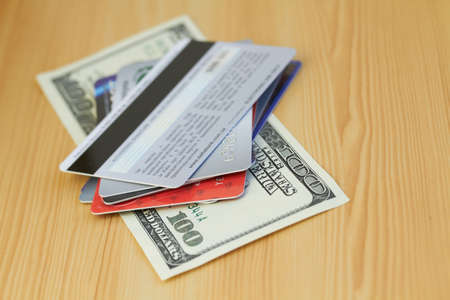 Credit card and dollar close-up Stock Photo - 17428907