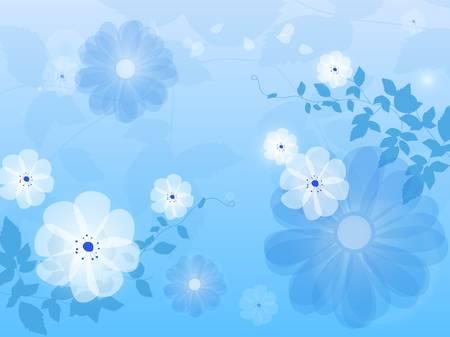 Blue floral background flower Stock Vector - 17675942