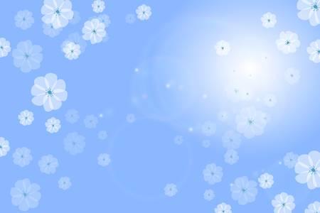 Blue floral background flower vector Stock Vector - 17875975