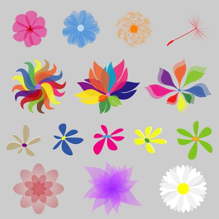 Collection Mod Style Vector Flowers Stock Vector - 17876101