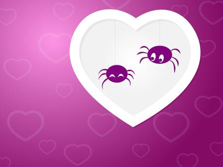 Funny Spiders love Stock Vector - 17875816