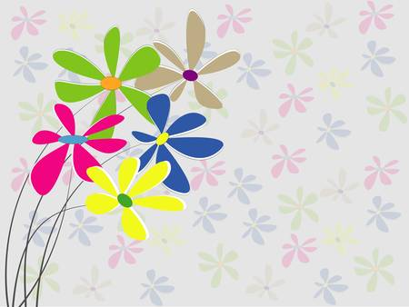 vector background with flowers Stock Vector - 17875996