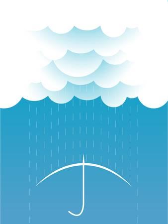Rain Vector image with dark clouds in wet day Stock Vector - 17875956
