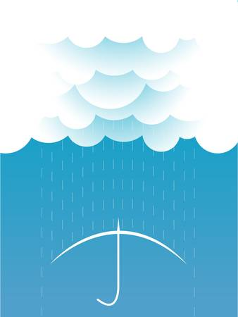 Rain Vector image with dark clouds in wet day Stock Vector - 17875956