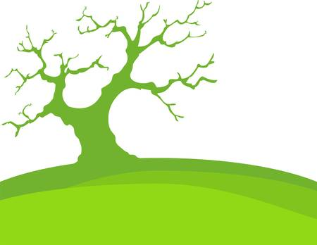 Green Background With Trees And Earth, Isolated Stock Vector - 17875974