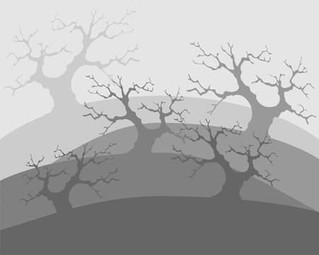 Dead trees, poor environment, the apocalypse Vector