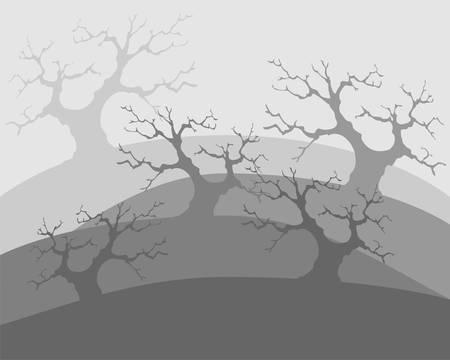 Dead trees, poor environment, the apocalypse Vector