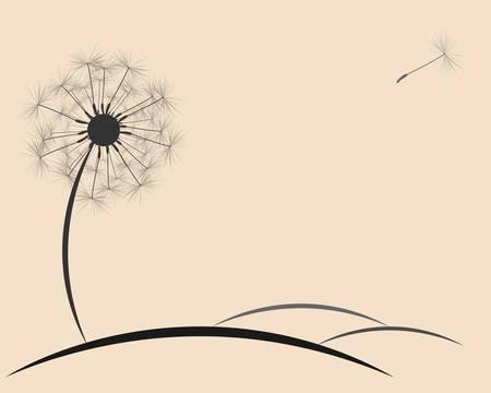 blowing dandelion: background dandelion fluff Illustration