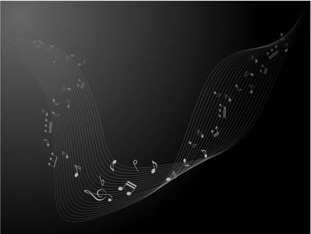 Music notes for design use, vector illustration Illustration