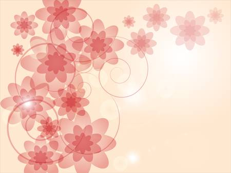 Abstract colorful background with pink flowers Stock Vector - 17876080