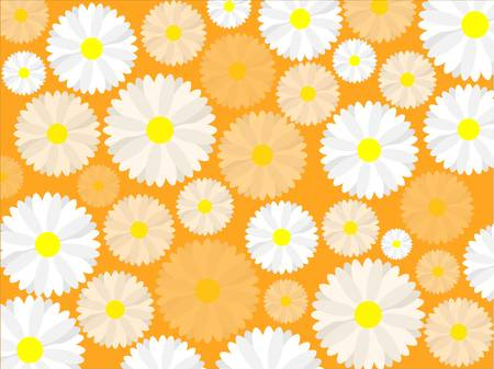 Simple seamless daisy background Stock Vector - 17875985
