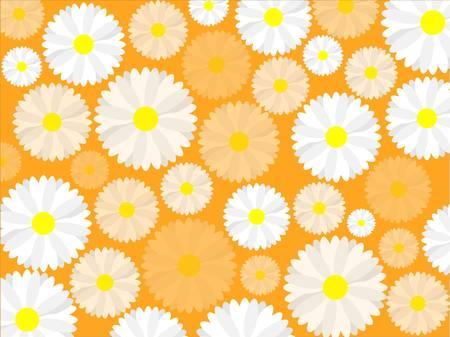 Simple seamless daisy background Stock Vector - 17875985