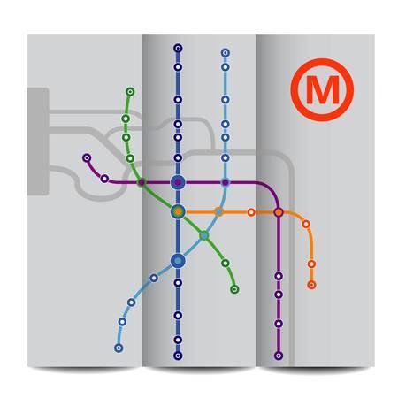 Abstract background of vintage metro scheme Illustration