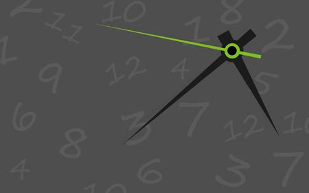 second hand: Clock face  Vector  Set up your time
