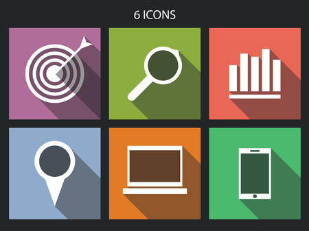 Flat icons set for Web