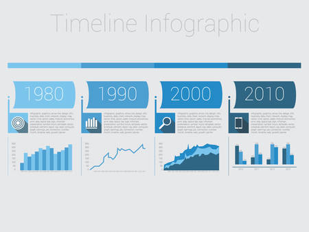 time line: Retro Timeline Infographic, Vector design Illustration