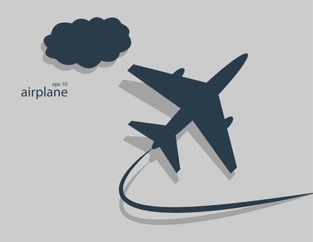 flightpath: Aircraft  Vector illustration