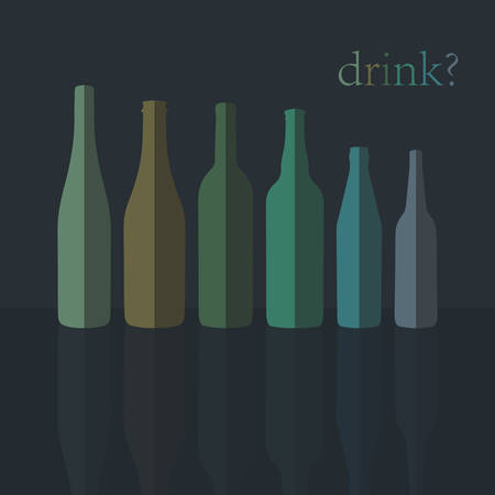 Bottles Icons in Flat Design Vector