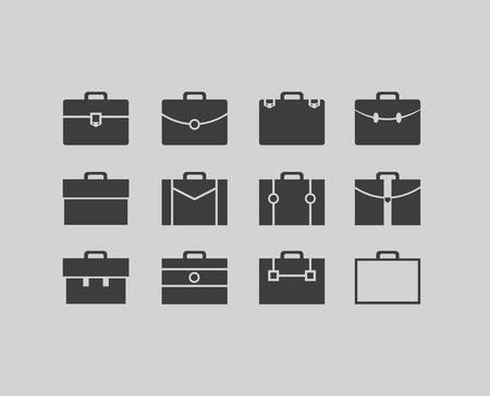 black briefcase: iconos malet�n negro Conjunto