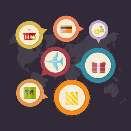 e marketing: Infographics purchase and delivery of goods