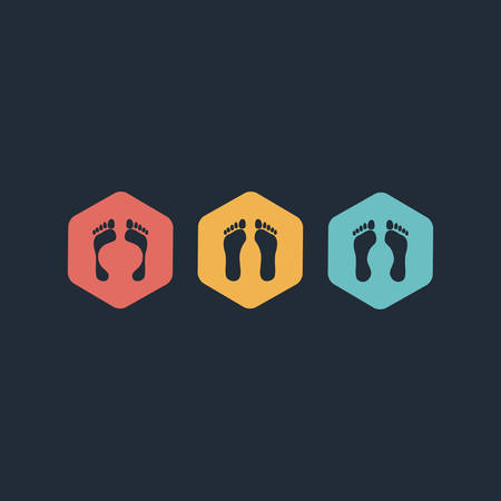 theft proof: vector version footprint symbols  Combinations  Illustration