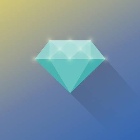 Diamond cuts vector flat icon Vector