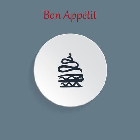 vector cupcake icons Illustration