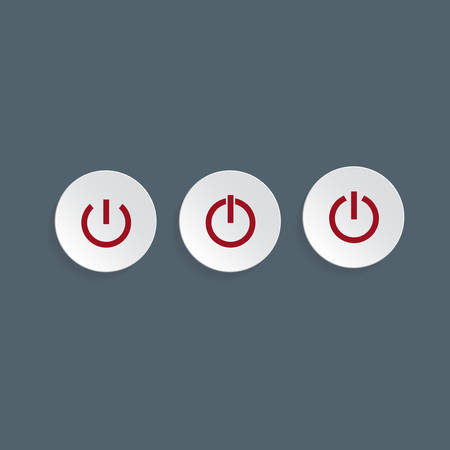Power buttons for web, illustration Vector