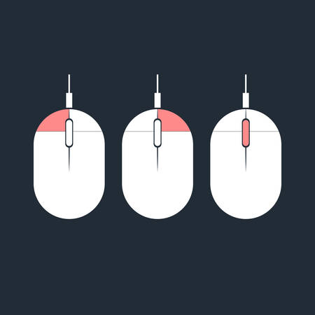 Computer mouse icon, illustration Illustration