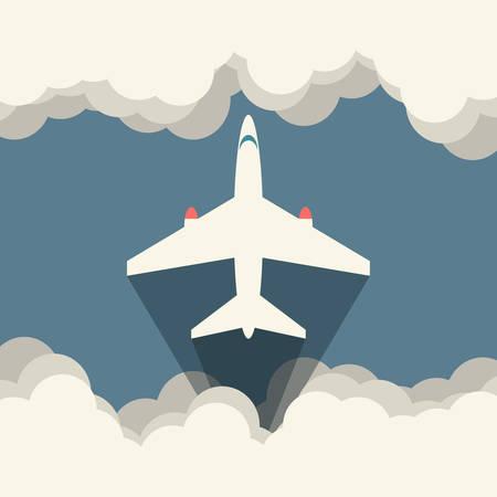 Aircraft Vector illustration, flat icon