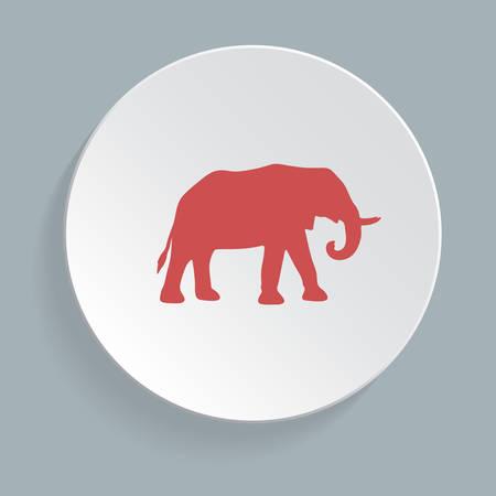 S�mbolo del elefante - ilustraci�n vectorial, icono