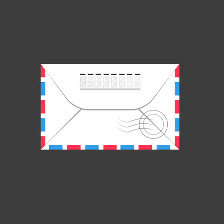 post stamp: Old envelope. Vector Illustration, flat Illustration