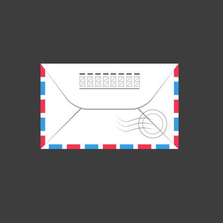 enveloppe ancienne: Vieille enveloppe. Illustration vectorielle, plat Illustration