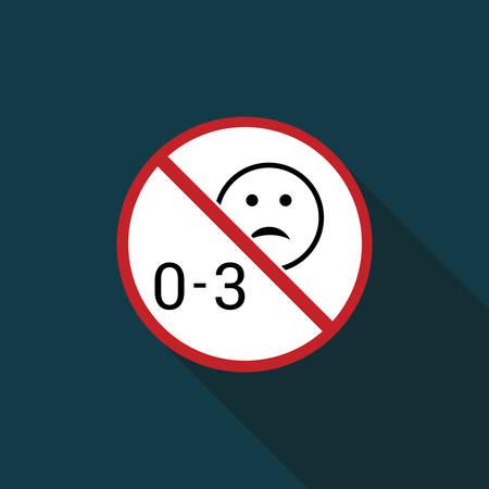 prohibido el uso de ni�os menores de tres a�os icono