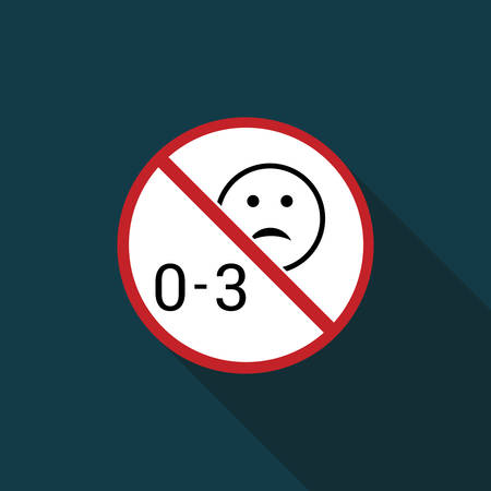 prohibited from using children under three years  icon