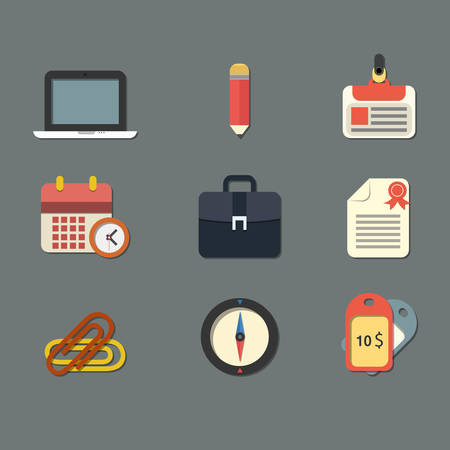 nametag: Flat Icons for Web and Mobile Applications Illustration