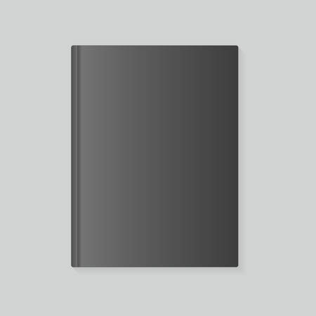 variant: blank book cover in dark variant, vector