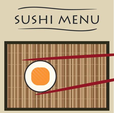 chopstick: vector illustration sushi and chopsticks Illustration