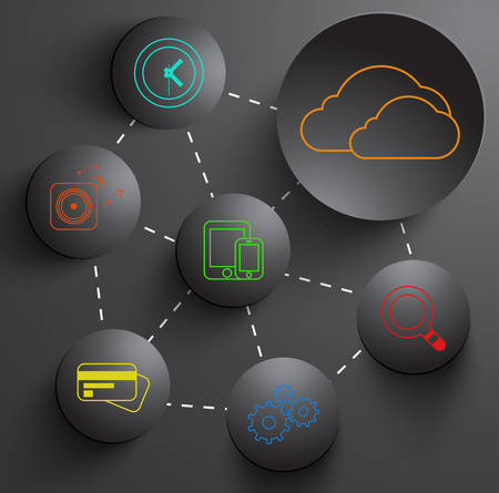 Vector cloud background. Eps10 illustration Vector