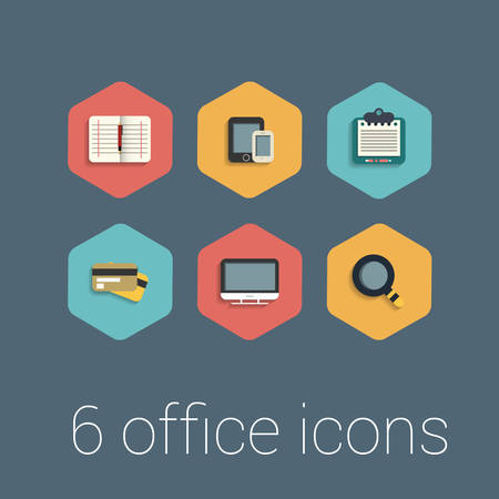 web design elements: flat design icons set. template elements for web and mobile applications