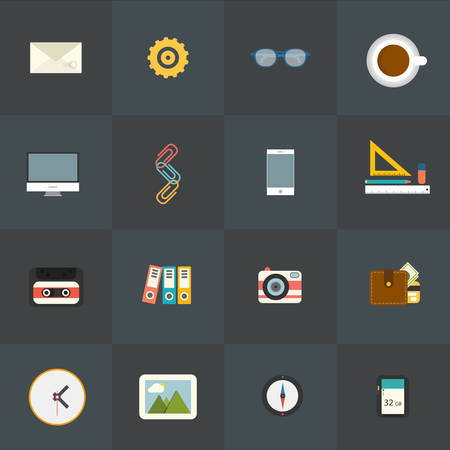 glases: Universal Flat Icons for Web and Mobile Applications