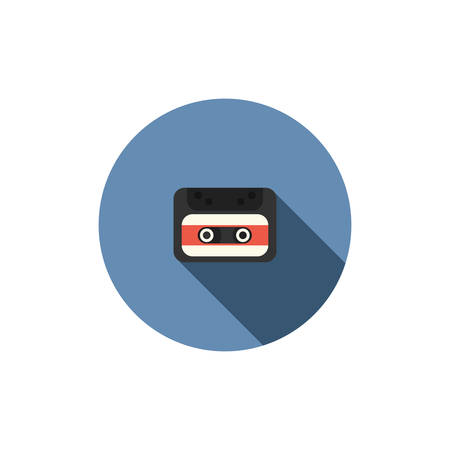 tape recorder: antiguo icono de la cinta de cassette de audio Vectores