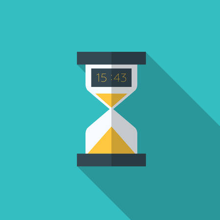 hour glass: Modern flat vector icon of electronic hourglasses